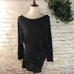 Cecico Fuzzy Asymmetrical Long Sweater
